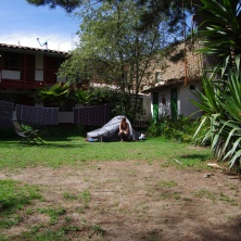 On campe... dans le jardin !