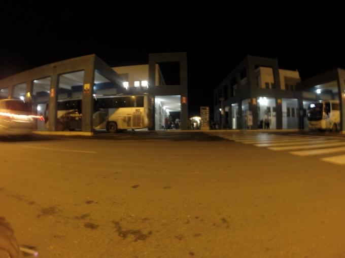 Le poste frontière à l'arrivée en Équateur (photo prise le lendemain de notre faux départ)