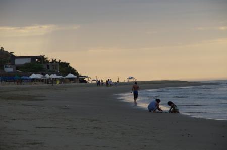 La plage de Punta Sal, au nord de Mancora...