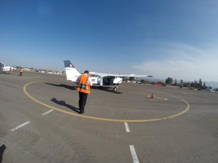 Notre petit Cessna et son pilote !