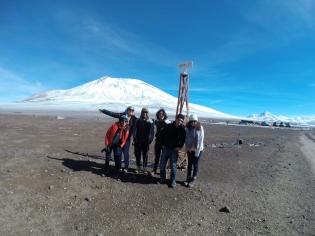 Voici notre fine équipe, constituée de deux chiliens et trois péruviens !